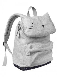 Gap+Kitty+Cat+Backpack+Heather+Grey+|+Bag