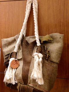 Bolso iOO en tela de saco natural...IDEAL!!