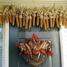 Door wreath and garland