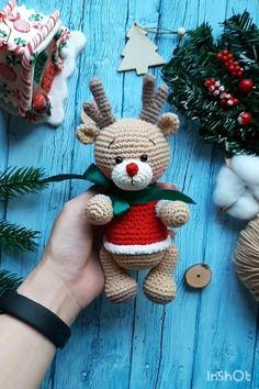 Owl Crochet Patterns, Crochet Deer, Christmas Crochet Patterns, Crochet Bunny, Christmas Knitting, Cute Crochet, Amigurumi Patterns, Crochet Snowman, Crochet Christmas Decorations
