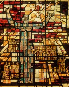 """The stained-glass window """"To the sun"""" in The Lenin Memorial Center Artist: A. Stoshkus Ulyanovsk, Russia Completed: 1970"""