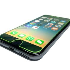 D&P [Neon Edge Series] Iphone 6 Plus 6s Plus Tempered Glass Screen Protector [Cool Green ] +Matt Film for Back, Eyesight Protection, Olephobic Coating, 9h Hardness, Invisible Shield [1+1 Pack]