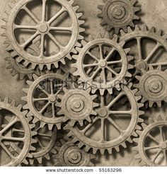 mecanical gears | Mechanical Background With Gears And Cogs Stock Photo 55163296 ...