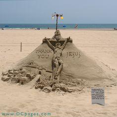 Ocean City - One of three fantastic sand sculptures by Randy Hofman