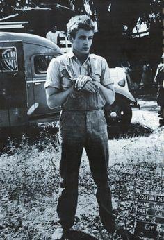 "hunkhollywood: "" James DEAN - on the set of ""East of Eden"" 1954 photo """