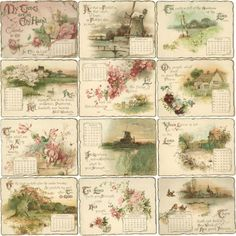 Vintage 1897 Calendar with Bible Quotes