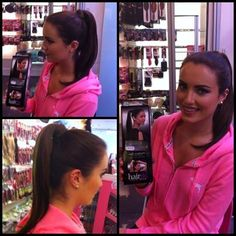 Holly popped into us this morning to purchase a stylish Ponytail for an upcoming modeling shoot. This is a wrap around ponytail. Stylish Ponytail, Hairspray, Beauty Shop, Cut And Color, Hair Extensions, Modeling, Hair Beauty, Celebrities, Weave Hair Extensions