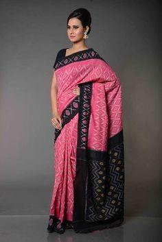 kousalya Flame Patterned Pochampally Cotton Saree