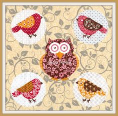 SALE *** TWO Paper napkins for DECOUPAGE - Colorful Owls #043 by VintageNapkins on Etsy