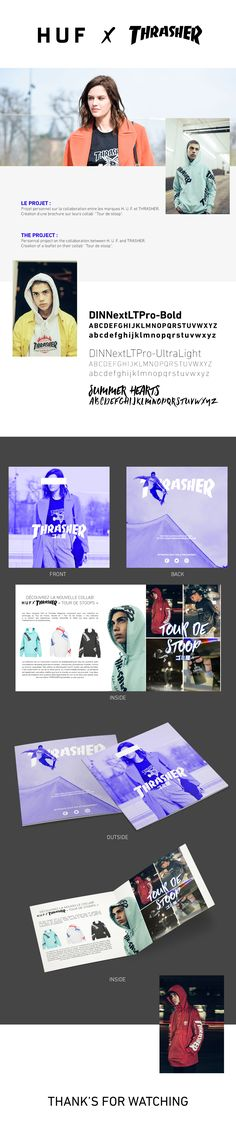 Consultez mon projet @Behance: « H. U. F. x THRASHER - Leaflet » https://www.behance.net/gallery/58610481/H-U-F-x-THRASHER-Leaflet