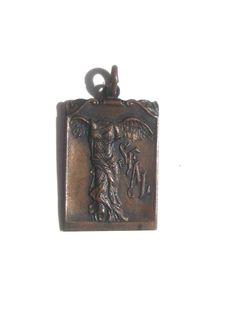 Antique 1920 Bronze Nike Goddess Medal by BetterWythAge on Etsy