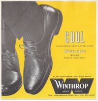 Winthrop Scarpa Mens Shoes 1959 Ad Picture