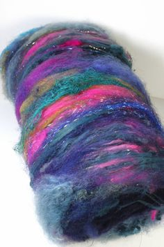 Art Batt Spinning Felting Fiber-Persian Carpet- Totally Textured Jazzturtle Artisan Batt