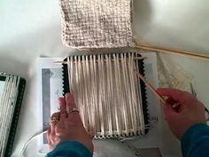 How to weave with yarn on a potholder loom.  Sew the squares together to make other projects, like rugs or blankets.  Cool!