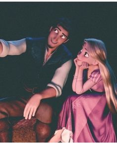 when they hug it out. I just love this picture so much. Eugene and Rapunzel are my favorite Disney couple they're just so sweet!I just love this picture so much. Eugene and Rapunzel are my favorite Disney couple they're just so sweet! Rapunzel Y Flynn, Rapunzel Disney, Disney Amor, Rapunzel And Eugene, Cute Disney, Disney Magic, Funny Disney, Flynn Rider And Rapunzel, Disney Princes