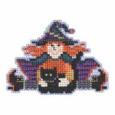 Wacky Wendy Beaded Cross Stitch Kit Mill Hill 2015 Autumn Harvest MH185201