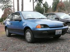 Katy my fourth car a Geo Metro. It was a very bright blue. General Motors, Buick, Cadillac, Geo, Chevrolet, Trucks, Bright, Cars, Blue