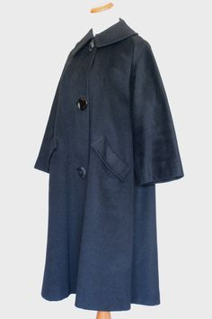 New! The winter coats are here!!!  60's Vintage Coat in Black Wool by pinebrookvintage on Etsy, $30.00