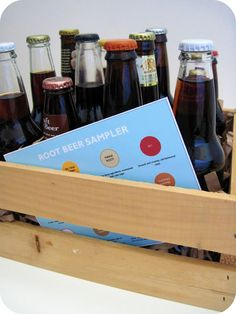 homemade by jill: root beer sampler - happy father's day! made this last year for my husband and my dad, they both loved it. Diy Gifts For Dad, Homemade Gifts, Cute Gifts, Diy Presents, Dad Gifts, Happy Fathers Day, Fathers Day Gifts, Beer Christmas Gifts, Holiday Fun