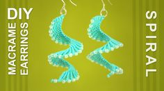 Macrame Spiral Earrings / DIY Tutorial