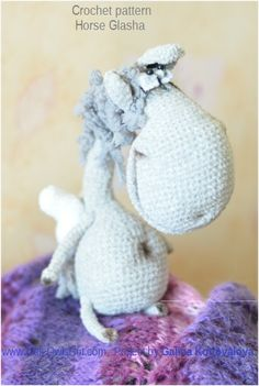 Project by Galina Konovalova Horse Glasha toy Made using Horse Glasha Crochet Pattern by Pertseva for LittleOwlsHut. #LittleOwlsHut, #Amigurumi, #Pertseva, #CrochetPattern