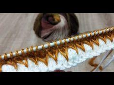 ÇOK KONUŞULACAK❗ YENİ #FAVORİ #ŞİŞ ÖRGÜ MODELİ 😏😏#Двухцветные зигзаги ✅#zigzag color #knitting - YouTube Knitting Videos, Knitting For Beginners, Baby Knitting Patterns, Hand Knitting, Knitted Baby Clothes, Bargello, Stitch, Crochet, Youtube