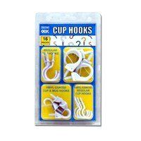 Cup Hook Pack By FindingKing  Cup Hooks Make - Vinyl coated cup hooks white