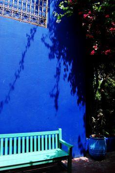 Garden of Yves St Laurent's home Marabella in Marrakech Morocco