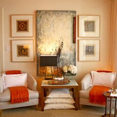 Eclectic Bedroom By Domicile Interior Design Love The Pop Of Orange On Chairs Master