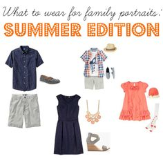 What to wear for family portraits - summer edition tips and ideas kourtneym Family Portraits What To Wear, Summer Family Portraits, Family Portrait Outfits, Summer Family Pictures, Beach Family Photos, Family Picture Outfits, Family Photo Sessions, Family Pics, Summer Pics
