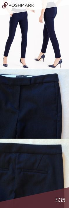 """J. Crew Ryder Pants - Like New J. Crew Ryder pants in navy blue. In like new condition - completely flawless and pocket stitching is still in place. Very chic, slim fit pants.  Flat lay measurements: waist 14"""", inseam 27"""". J. Crew Pants"""