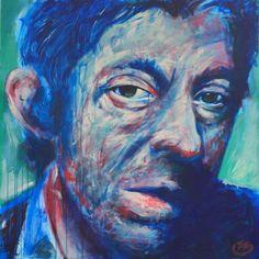 Serge Gainsbourg Green - Painting,  100x3,5x100 cm ©2014 par 13 -  Peinture