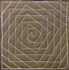 The Free Motion Quilting Project: Day 204 - Spiral Illusion Quilting Stencils, Quilting Templates, Quilting Tutorials, Quilting Projects, Quilting Ideas, Patchwork Quilting, Quilt Stitching, Longarm Quilting, Hand Quilting