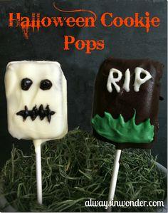 Cute little Halloween Cookie Pops