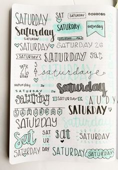 Bullet Journal Weekly Headers For You To Copy Want some inspiration for your bullet journal? Try out these super easy weekly headers in your next spread in your journal! Check out this post to find creative bullet journal weekly header ideas for every day Bullet Journal School, Bullet Journal Headers, Bullet Journal Banner, Bullet Journal Notebook, Bullet Journal 2019, Bullet Journal Ideas Pages, Bullet Journal Inspiration, Bullet Journal Ideas Handwriting, Bullet Journals