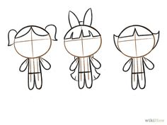 How to draw Powerpuff Girls / Dibuixem les Supernenes