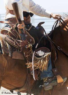A cowboy's always prepared
