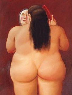 Donna Allo Specchio, Fernando Botero, 2003