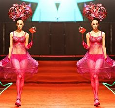 Bremen Wong millinery for The Masquerade fashion show for Sogo Kl , fashion designer  by Carven Ong , Headgears by Bremen W