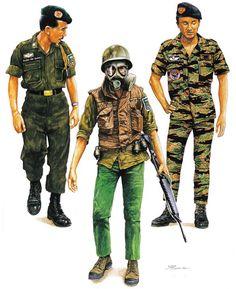 • Brig. Gen. Doan VanQuang, LLDB, 1966  • Private, 81 Airborne Ranger Bn., 1968  • Lieutenant Junior Grade, LLDN SEAL, 1971