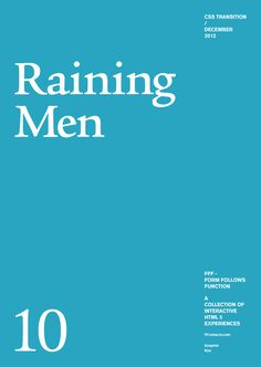 Form Follows Function - interactive site Raining Men