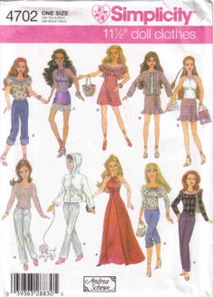 Free Copy of Pattern - Simplicity 4702