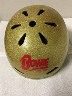 Bowie Helmet Ziggy Stardust Helmet #David Bowie #Ground Control to Major Tom #Bowie Tribute #skate helmet #bicycle helmet #derby helmet #glitter helmet #glam helmet