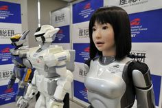 Japan's humanoid fashion robot HRP-4C was unveiled in Tokyo on March 16, 2009. Sitting besides me in the cafe by now?