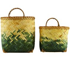 Kurve m/håndtag - Helene - Bambus/sort - stk Plant Basket, Bamboo Basket, Basket Bag, Bamboo Planter, Bamboo Crafts, Passementerie, Basket Decoration, House Doctor, Bedroom Accessories