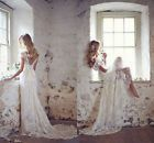 New Ivory White Lace Bridal Gown Wedding Dress Custom Size 6 8 10 12 14 16