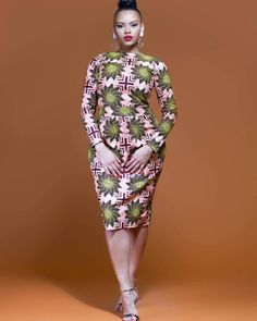 We need your helps ladies Should we include this pencil tulip shape midi dress in our November collection ? African Inspired Fashion, African Print Fashion, Africa Fashion, Fashion Prints, Fashion Design, African Wear, African Women, African Dress, African Clothes