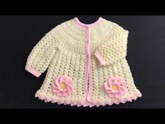Crochet Baby Jacket, Crochet Cardigan, Crochet Coat for girls 0-12M, EASY CROCHET, Crochet for Baby - YouTube Crochet Baby Jacket, Crochet Coat, Crochet Cardigan, Easy Crochet, Baby Sweaters, Jackets, Toddlers, Dresses, Babies