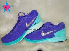 best website 990fb e19d9 Crystal Nike Royal Grape Lunarglide 6 Sneakers · Rhinestone ShoesBling ShoesTeal  NikesGlitter NikesRunning ...
