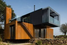 This Grand Designs featured home is constructed out of four shipping containers.